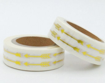 10m Foil  Washi Tape roll - Gold arrow  - Christmas - Gift - decoration bestseller planner supplies scrapbooking