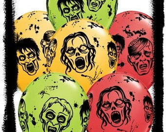 Zombie Balloons Zombie party decorations Halloween party, Zombie Party Balloons, Zombie decorations