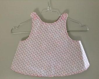 smock apron back crossover 12-18 months