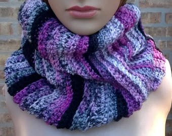 Cowl, Cowl Scarf, Infinity Scarf, Crochet Cowl, Neck Warmer, Scarf Cowl, Womens Cowl, Ribbed Cowl, Ribbed Scarf, Chunky Cowl
