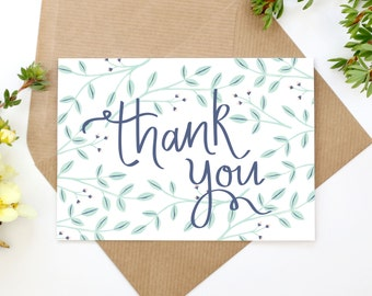 Hand Illustrated Floral Thank You Card