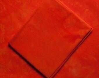 Orange Fat Hand Dyed Quilting Cotton Quarter