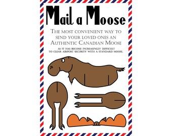 """Moose Postcards, Set of 8 """"Mail a Moose"""" Postcards (Canadian Moose)"""