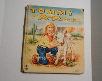 vintage Tommy  of A bar A Ranch  Cozy Corner Whitman book