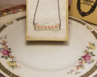 Broken China bar necklace