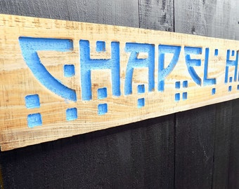 Carved CHAPEL HILL Sign - Carved, Painted and Distressed  Wall Decor University of North Carolina University UNC Tarheels