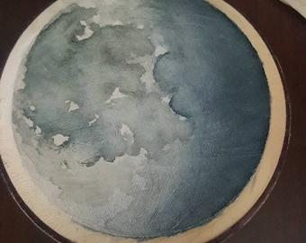Custom Wood Moon Phase Painting