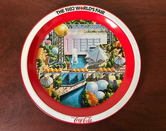 Coca-Cola 1982 World's Fair Metal Tray