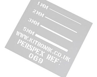 White Perspex Sheet (Opaque) 3mm x 297mm x 210mm High Gloss Perspex Sheet A4