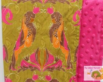 Parrot Lovey // Lovie // Baby Blanket // Parrot Blanket