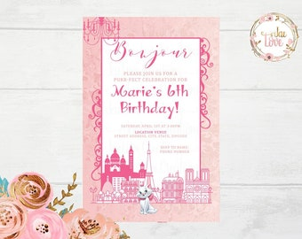 The Aristocats Invitation