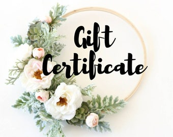 Gift Certificate Printable - Gift Certificate Download - Gifts for Her - Christmas Gift Ideas - Gift Certificate - Gift Card - Gift Voucher