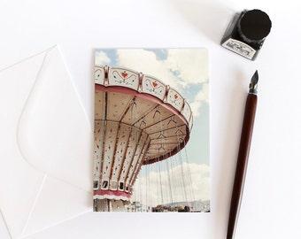 The Merry-go-round postcard