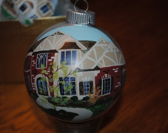 Custom Hand Painted Home Ornament   ***SOLD***