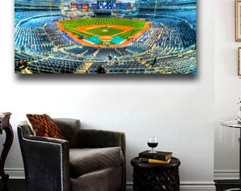 Amazing Yankee Stadium Canvas Print - 36x20 Amazing / Rare Sunset photo