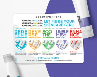Rodan and Fields Postcard, Let Me Be Your Skincare Girl, Rodan + Fieds Regimens, Enchancements, Personalized