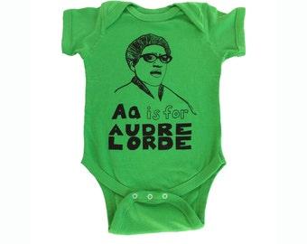 Feminist Onesie: AUDRE LORDE Baby Onesie & Screen print Gift Set