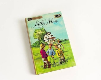 SALE Vintage 1960s Childrens Chapter Book, Little Men by Louisa May Alcott Companion Library 1963 Hc VGC, Second Book in Little Women Trilog