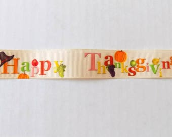 Happy Thanksgiving Ribbon - 1 Yard