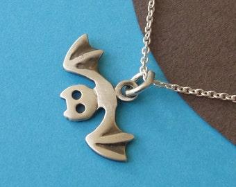 Bat Necklace sterling silver Bat Pendant  Kids Jewelry Bat Charm Goth Jewelry Birthday necklace teen Jewelry animal pendant Birthday gift