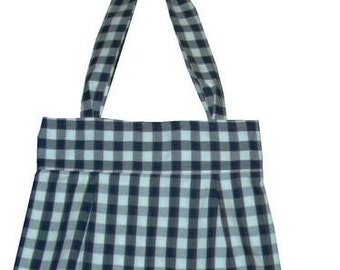 Gingham Checked Tote Bag - Unlined