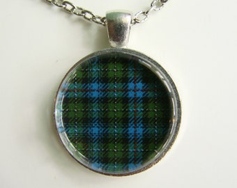 MACKENZIE Clan Scottish TARTAN Necklace -- Scottish Wedding Necklace, Bridesmaids, Hen Night, Family plaid, Friendship token