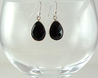 Onyx Earrings Black Onyx Drop Earrings Black Onyx Sterling Earrings Onyx Gemstone Earrings Onyx Silver Earrings Black Onyx Teardrop Earrings
