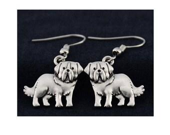 Saint Bernard Charm Earrings