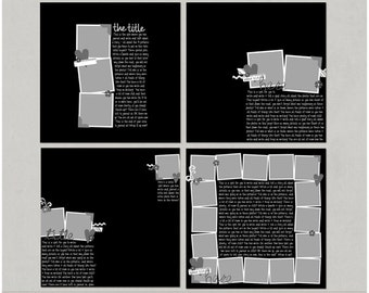 Lots To Say Set 3 - 12x12 Digital Scrapbooking Templates