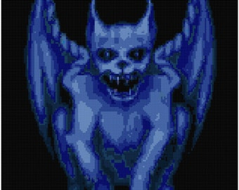 Counted Cross Stitch Pattern of a Gargoyle