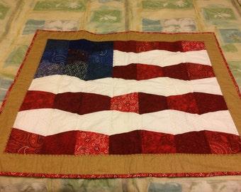 USA Flag with border and sleeve