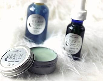Dreamer Gift Set | Christmas Gift, Beauty Gift Set | Pillow Mist, Dream Balm, Dream Oil | 100% natural and vegan set for her