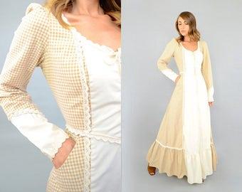 70's GUNNE SAX Gingham Dress