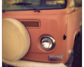 4 x 4 photo card-Guava VW bus