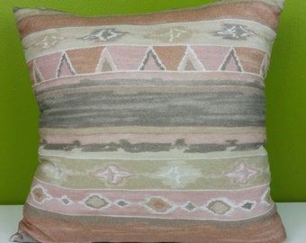 Tan Southwestern Ethnic Print Pocket Pillow