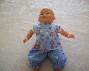 clothing, tunic and pants for dolls, 30 cm labels fits tidoo, hug