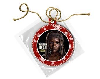 The Walking Dead Michonne Danai Gurira Christmas Ornament