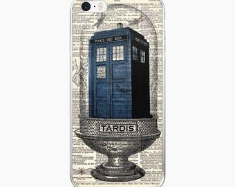 TARDIS Terrarium Phone Case, iPhone 7 8 X, 7 Plus Case, Antique Dictionary Page Dr Who Art Print, Doctor Who iPhone 6s 6 plus Cover