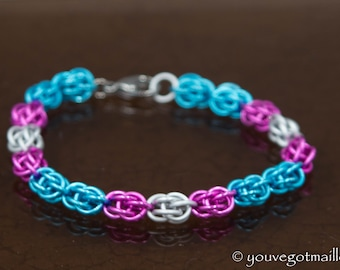 Trans Pride Chainmaille Bracelet