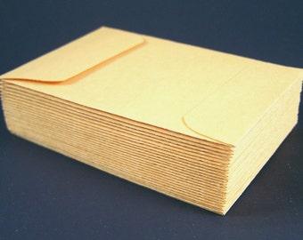 """100 Small Coin Envelopes - 2 1/4"""" x 3 1/2"""" - Kraft Gummed Envelope"""