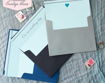 Printed Matching Envelope Liner   A2 Sized Liner   Wedding Card   To My Husband   On Our Wedding Day Card   Card For Fiancé   Card From Wife