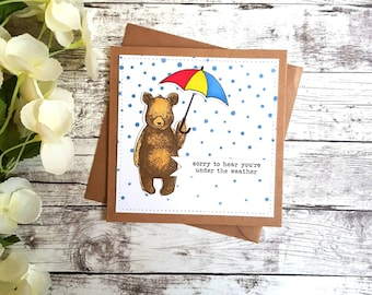 Get Well Soon Card- Bear Card