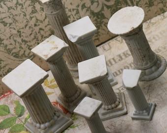1 Antique German Bisque Pillar