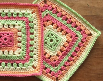 Crochet Pattern - A Fresh Start crochet square - PDF