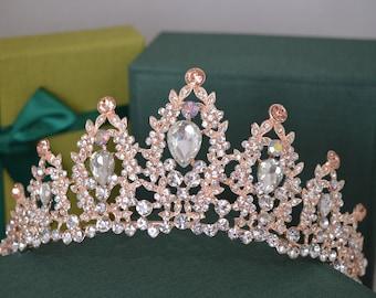 Bridal, Silver Tiara,Crystal Tiara, Swarovski,Bridal Tiara,Crystal Wedding Crown,Rose Gold Tiara,Wedding Tiara,Diamante Crown, Silver Crown