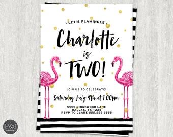 Flamingo Birthday Invitation | Flamingle Birthday | Any Age | Flamingo Invitation | DIY | Customized Printable