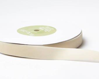 Velvet Woven Ribbon - Ivory - 3/4 inch  - You Choose Yards