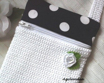 Purse Crochet Handbag Cotton Padded Hand Made
