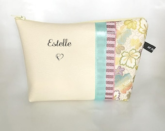 Personalised make up bag, Zippered Pouch, mother's day, Name Pouch,Cosmetic Pouch, gift for her, personalised gift,