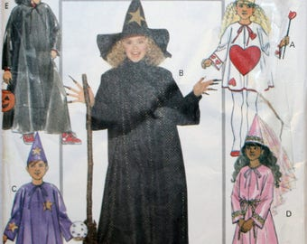 Child's - Witch - Princess - Wizard - Queen of Hearts - Cape - Sewing Pattern - Halloween Sewing Pattern - New- Uncut - Size S, M, L, XL